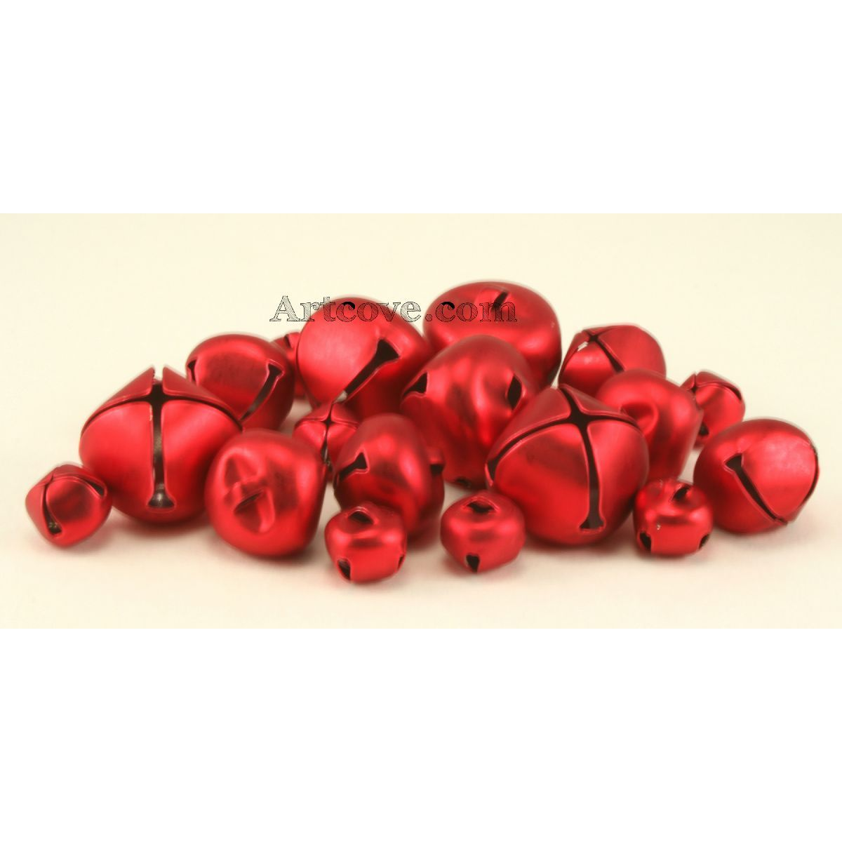 Red Jingle Bells Assorted Sizes 1/2, 3/4 and 1 inches 19 ...