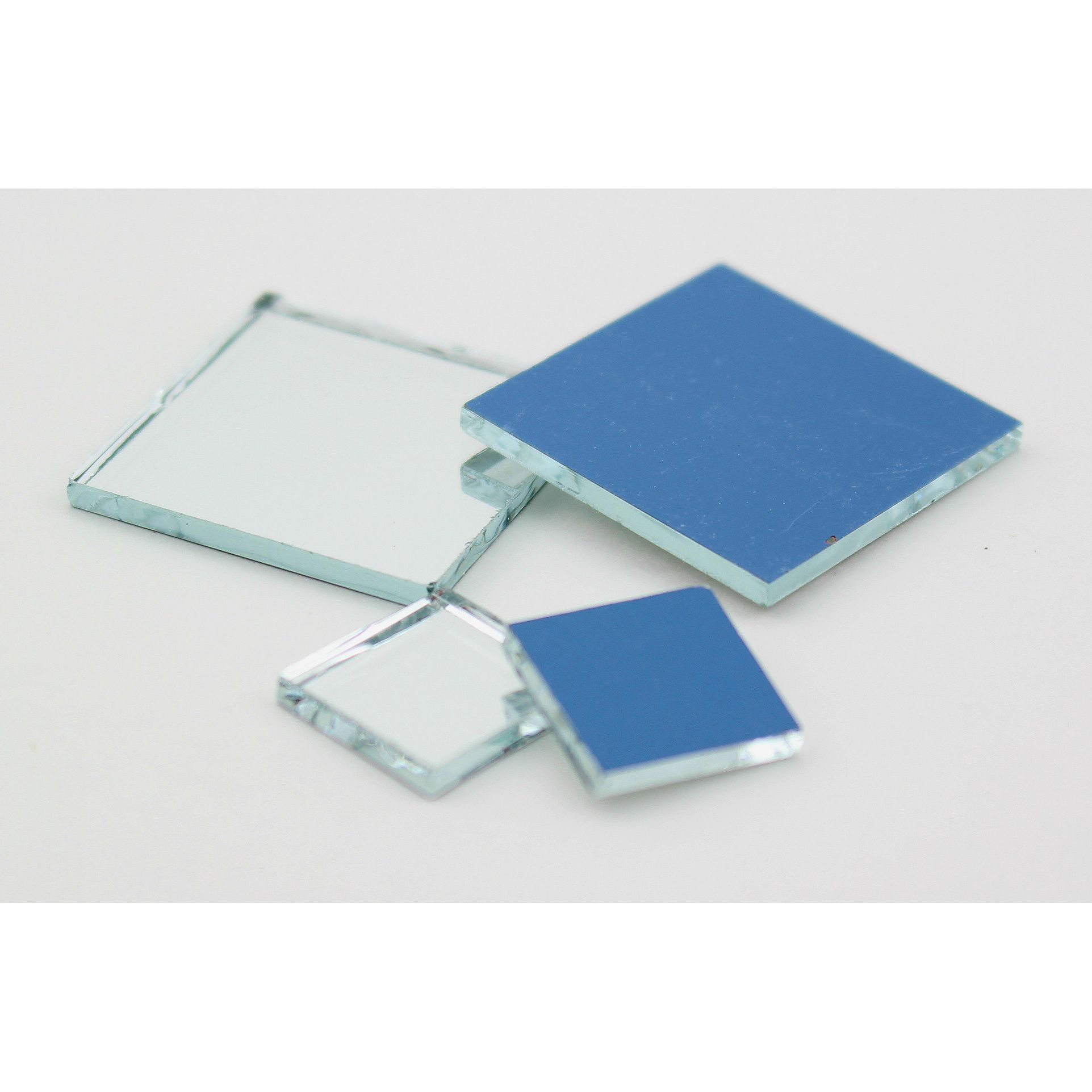 Glass craft mini square mirrors 1 2 1 inch 25 pieces for Glass and mirror craft