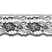 Black 3 Inch Wide Flat Lace