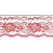 Red 3 Inch Wide Flat Lace