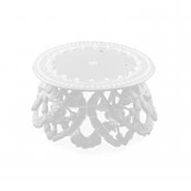 White Plastic Ornament Bases