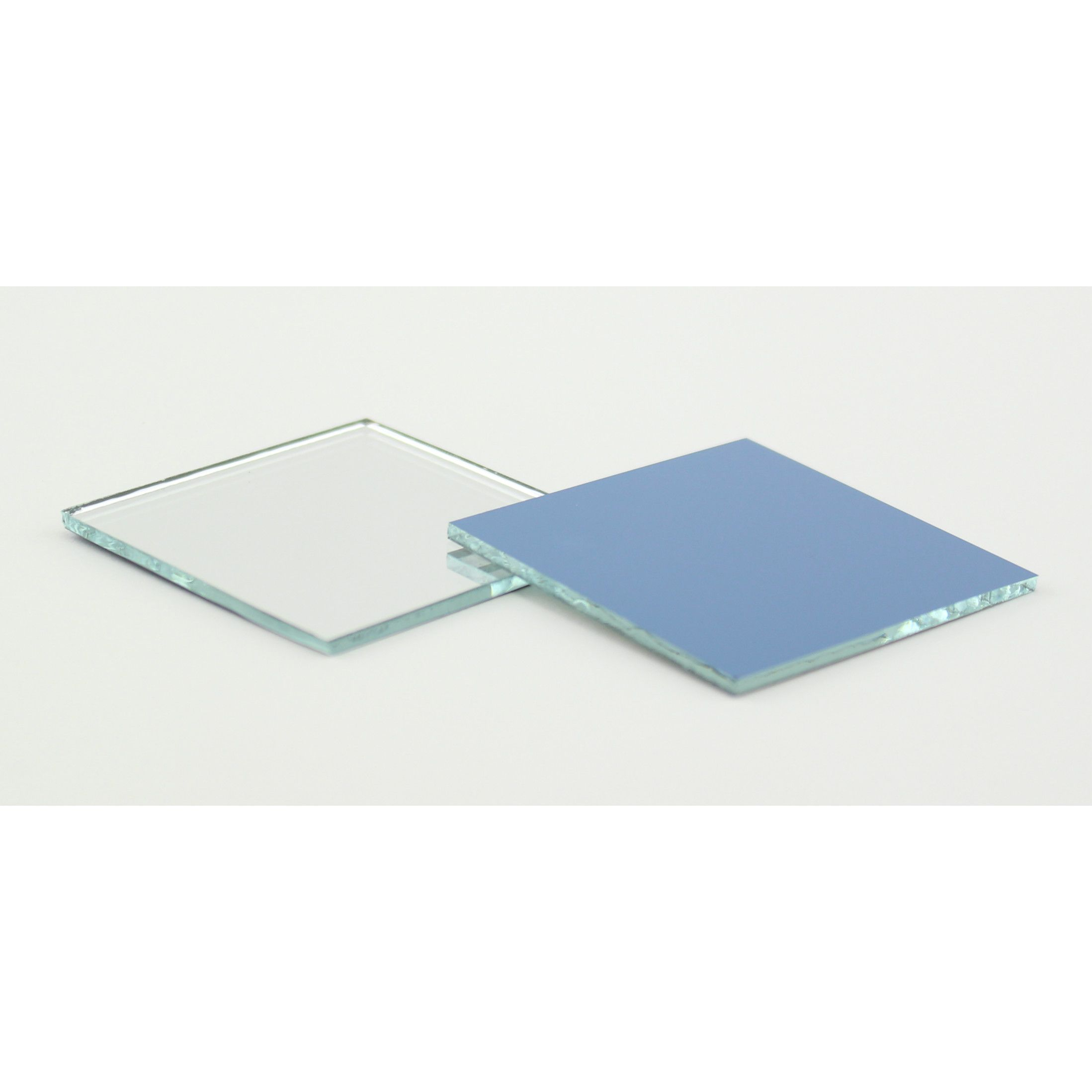 Small Mirror Pieces: 2 Inch Glass Craft Small Square Mirrors 4 Pieces Mosaic