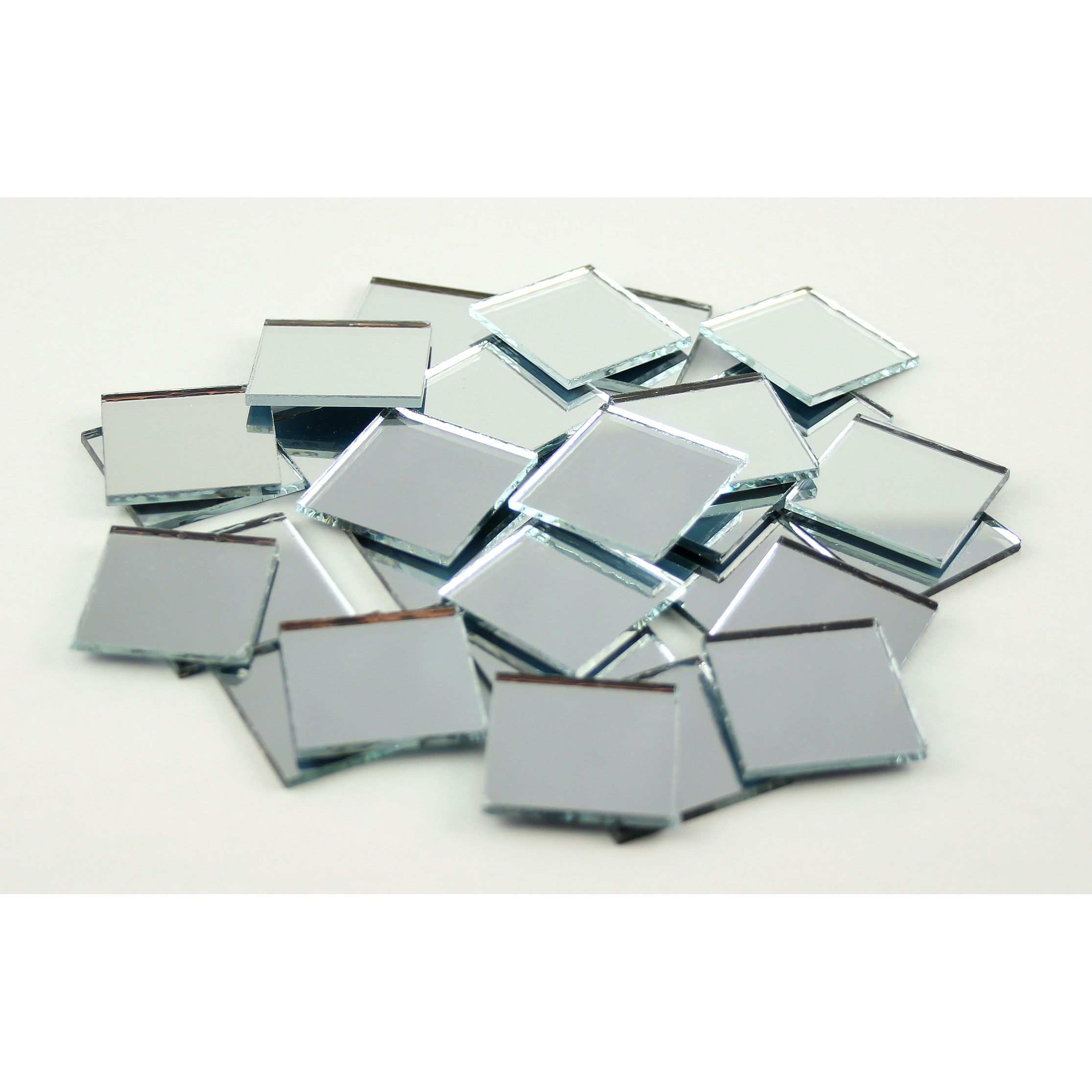 Small Mirror Pieces: 1 Inch Glass Craft Small Square Mirrors Bulk 100 Pieces