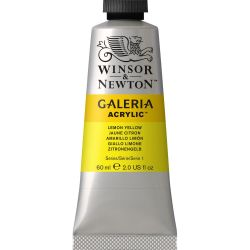Lemon Yellow Galeria Acrylic Paint 60ml Tube.