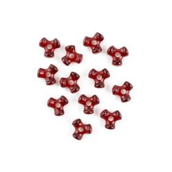 red tri beads