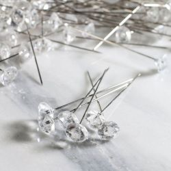 2 inch Diamond Corsage Pins