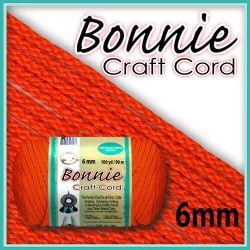 6mm Orange Macrame Cord