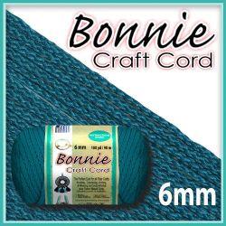 6mm Sapphire Teal Macrame Cord