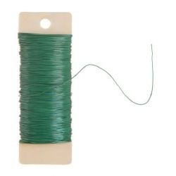 22 Gauge Green Floral Paddle Wire 38 yards