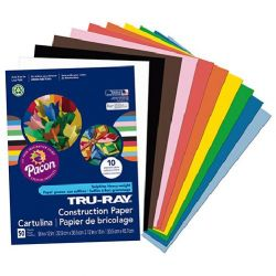 9x12 Pacon Multi Colored Construction Paper 50 Sheets