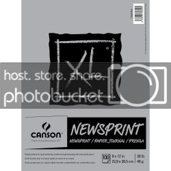 9x12 inch Canson Newsprint Paper Pad