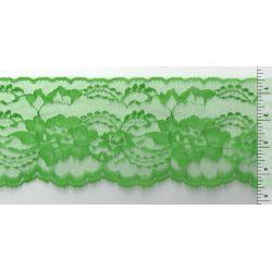 4 Inch Flat Lace Emerald Green