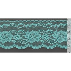 4 Inch Flat Lace Turquoise