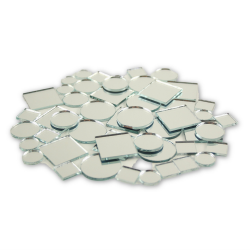 Small Mini Square & Round Craft Mirrors Assorted Sizes Mirror Mosaic Tiles