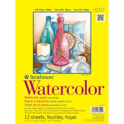 9x12 inch Strathmore Watercolor Paper Pad 12 Sheets