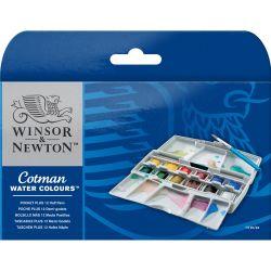 Winsor & Newton Cotman Water Colours Pocket Plus 12 Half Pans