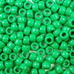 Opaque Green Pony Beads Bulk