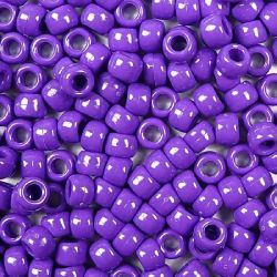 Opaque Purple Pony Beads Bulk