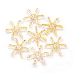 18mm starflake beads champagne