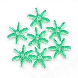 18m Mint Starflake Beads