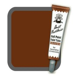 Aunt Martha's Ballpoint Paint Tube Brown