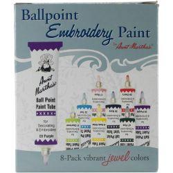 Aunt Martha's Ballpoint Paint Tubes Set Jewel Colors
