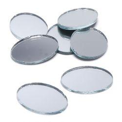 2 x 1 inch oval mirrors bulk