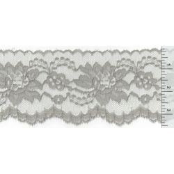4 Inch Flat Lace Grey