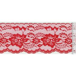 4 Inch Flat Lace Red