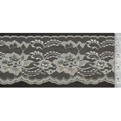4 Inch Flat Lace White with Iridescent 1 Yard