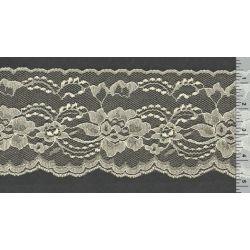 4 Inch Flat Lace Ivory 1 Yard