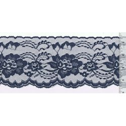 4 Inch Flat Lace Navy Blue