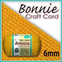 6mm Sunshine Yellow Macrame Cord