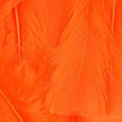 Orange Fluff Marabo Craft Feathers
