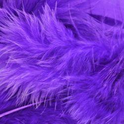 Purple Fluff Marabo Craft Feathers