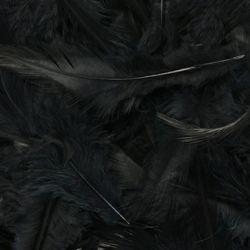Black Fluff Marabo Craft Feathers