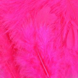 Fuchsia Fluff Marabo Craft Feathers
