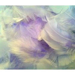 Lavender Fluff Marabo Craft Feathers 14 Grams