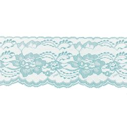Light Blue 3 Inch Wide Flat Lace