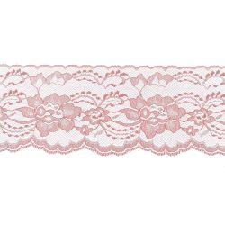Mauve 3 Inch Wide Flat Lace