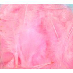 Pink Fluff Marabo Craft Feathers