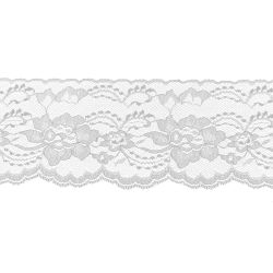 White 3 Inch Wide Flat Lace