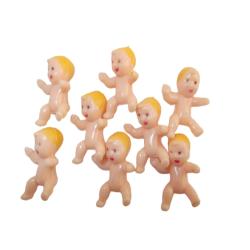 1.25 Inch Miniature Plastic Babies White Skin
