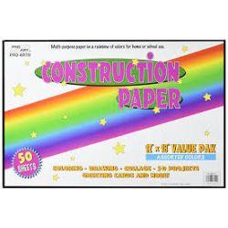 12x18 Construction Paper Assorted Colors