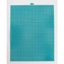 peacock blue plastic canvas