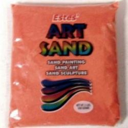 Orange Estes Art Sand 2 Pound Bag