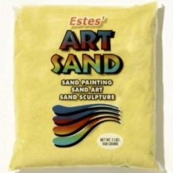 Sun Yellow Estes Art Sand 2 Pound Bag