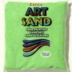 Bright Green Estes Art Sand 2 Pound Bag