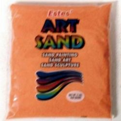 Bright Orange Estes Art Sand 2 Pound Bag
