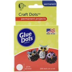 1/2 Inch Glue Dots Craft Dot Roll 200 Clear Dots